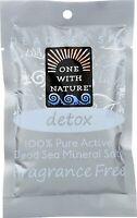 100% Pure Active Dead Sea Mineral Salts, 2.5 oz 6 pack Fragrance Free (Detox)