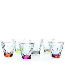 Riflessi Bicolours, 6 Bicchieri Colorati, Cristallo-Vetro, RCR