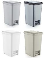 Small Large Slim Plastic Pedal DUSITBIN Home Bedroom Bathroom Kitchen Rubbish WE