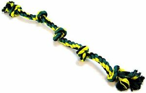 LM Flossy Chews Colored 5 Knot Tug Rope X-Large (3' Long)