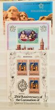 * QUEEN CORONATION ANNIVERSARY ROYAL MONARCH 3 SHEETS THEMATIC STAMPS 10010518 *