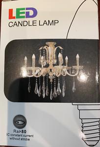 5W E12 LED Chandelier Light Bulb Filament Candelabra Bulb 2 bulbs in 1 Pack