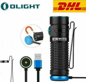 Olight S1R Baton II Mini Taschenlampe 1000LM USB Magnetische Wiederaufladbare#