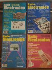 4 Radio Electronics Magazines Vintage Issues Jan/Aug 1987/ May1985/Nov 1982