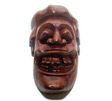 "Sri Lankan Elegant Handmade Wood Carving Mask Sculpture 9"" Home Decor Art"
