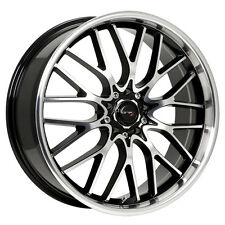 4-NEW Drifz 302MB Vortex 18x8 5x100/5x114.3 +35mm Black/Machined Wheels Rims