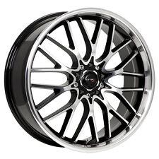 4-NEW Drifz 302MB Vortex 18x8 5x100/5x114.3 +35mm Black/Machined Wheels Rims