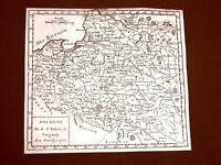 Pologne Polonia Settecentina Carta geografica mappa del 1750 Robert De Vaugondy