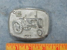 Vintage CASE VAC Tractor Belt Buckle 1942 Limited Edition SC DC Spec Cast SILVER