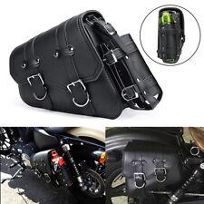 Left Side Single Motorcycle Saddlebag Tool Bag Luggage & Fuel Oil Bottle Holder