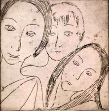 1960s Listed AMERICAN JEAN MARGOLIN EXPRESSIONIST FEMALES Sd ORIGINAL ETCHING NR