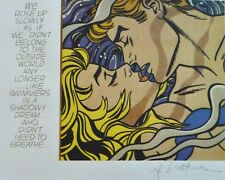 """ROY LICHTENSTEIN """" We rose up slowly """"  MATTED PLATE SIGNED"""