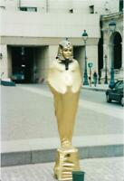 MUMMY MIME Street Performer FOUND PHOTOGRAPH Color FREE SHIPPING Egyptian 910 4