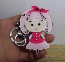 Brand New Kawaii Lovely Korean Style Cute Girl Keychain Mirror Bag Dangle Pink