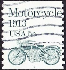 US - 1983 - 5 Cents Gray Green Motorcycle Coil # 1899 Plate Number 3 Single F-VF