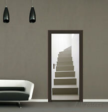 Turning Staircase Door Wallpaper Mural Sticker - 37x82
