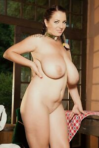 B759 8x12 BUXOM Romanian Gal #5A Showing Her AMPLE CHARMS! (ART NUDES)
