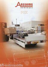 Prospekt Anssems PSX Anhänger 2002 Anhängerprospekt brochure trailer PKWs