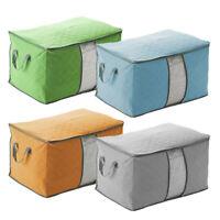 Large Clothes Quilt Blanket Zipper Storage Box Organizer Foldable Non Woven Bag