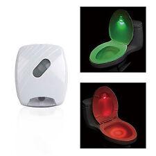 Neu LED Motion Sensor Toilettendeckel WC Sitz Klobrille Klodeckel Nachtlicht