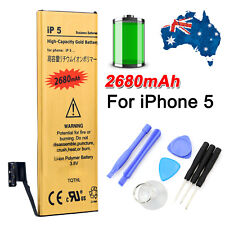 Premium Just For Apple IPhone 5 5G Replacement Battery Tools Kit Gold 2680mAh AU