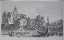 Gravure XVIIIe, Saint-Aubin-des-Châteaux, Loire-Atlantique (44), Louis Lesueur