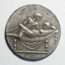 Caligula Coin Ancient Roman Empire Spintria Brothel Erotic Antique Token #1