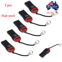 5PCS High Speed USB 2.0 Micro SD SDHC TF Flash Memory Card Reader Adapter Hot