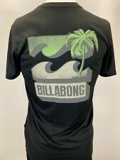 "New Billabong ""Block Logo"" Men's Short Sleeve T-Shirt, Black, S-L, Slim Fit"