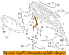 VW VOLKSWAGEN OEM 15-18 Golf Hood-Hinge Left 5G0823301B