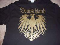 Germany,German Deutschland Flag Gold Color Crest,Black,T-Shirt,. Sz. 3XL