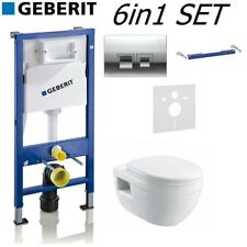 GEBERIT UP100 DELTA 50 FRAME + IVO WALL HUNG & QUICK RELEASE SEAT