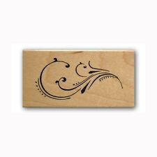 fancy Flourish Mounted rubber stamp, calligraphy ornamentation, decorative #23