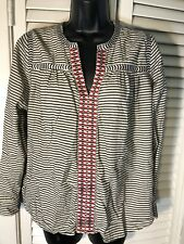 J Crew Blouse Embroidered Front Size 4