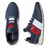 Lacoste Menerva Elite 319 1 US Mens Casual Blue Leather Sneakers 38CMA0023-092