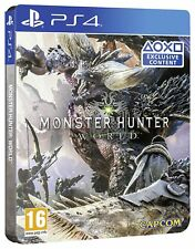 Monster Hunter World Steel Book Edition (Exclusive to Amazon.co.uk) PS4