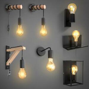 Retro Lampe Vintage Deckenleuchte Wandspot matt Industrie Wohnzimmer Flur E27