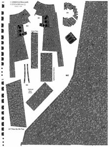 1/100 scale Shuttle Orbiter Standard Black Tile Decal Set for Tamiya models
