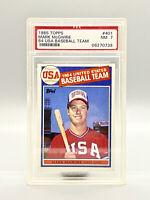 1985 TOPPS 1984 USA TEAM #401 MARK McGWIRE RC ROOKIE PSA 7 FUTURE HOF