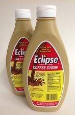 LOT OF 2 BOTTLES- ECLIPSE COFFEE SYRUP 16 OZ BOTTLES COFFEE MILK