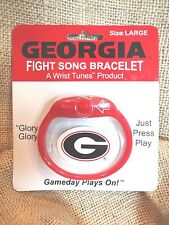 UNIVERSITY GEORGIA BULLDOG FIGHT SONG BRACELET RED & BLACK~(LARGE)~NEW CARDED