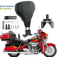 Adjustable Driver Rider Backrest For Harley Touring Street Glide FLHX FLHR 88-08