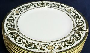 Royal Worcester WINDSOR Green & Gold dinner plate up to 8 in stock
