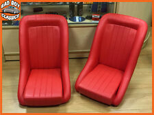 Pair BB1 RED Classic Clubman Bucket Seats + Tilting Subframe CLASSIC MINI