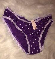 NWT Vintage Victoria Secret Cotton Bikini Panties Small S Sissy