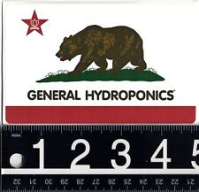 GENERAL HYDROPONICS STICKER General Hydro Grow Weed Bud 4.75 in x 3 in CA Decal