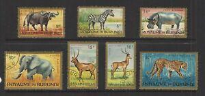 BURUNDI,  # C/1-7,  Used,  JUNGLE ANIMALS, Nature, Wildlife