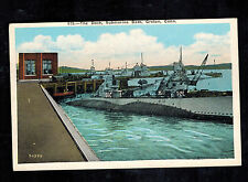 Mint USA Picture Postcard Navy Submarine USS S20 Groton Connecticut Dock