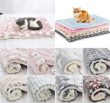 Thickened Pet Soft Fleece Pad Pet Blanket Bed Mat For Puppy Dog Cat Warm Rug
