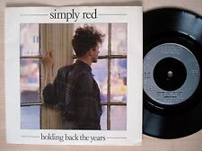 """Simply Red Holding Back The Years A/1 B//1 UK 7"""" WEA YZ 70 1986 NM"""